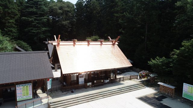乃木神社拝殿屋根改修工事